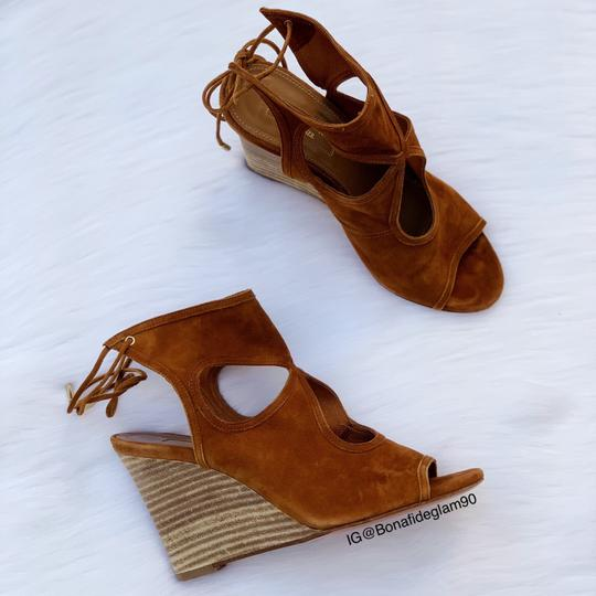 Aquazzura Cognac Sandals Image 8