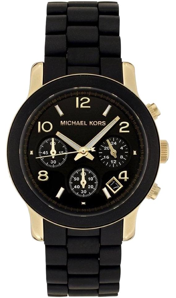 c279c9bc0 Michael Kors Michael Kors Women's Runway Gold & Black Poly Watch MK5191  Image 0 ...