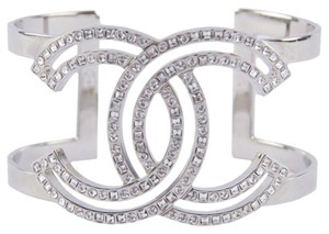 Chanel NEW CHANEL CRYSTAL CC LOGO SPARKLE CUFF BRACELET BOX TAGS NWT!