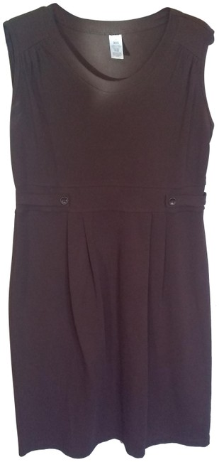 Item - Brown Comfort Fit Mid-length Work/Office Dress Size 12 (L)