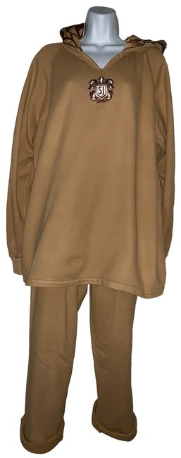 Item - (3-day Sale)tan Cotton Embellished Hooded Lounge Set/ Pant Suit Size 8 (M)