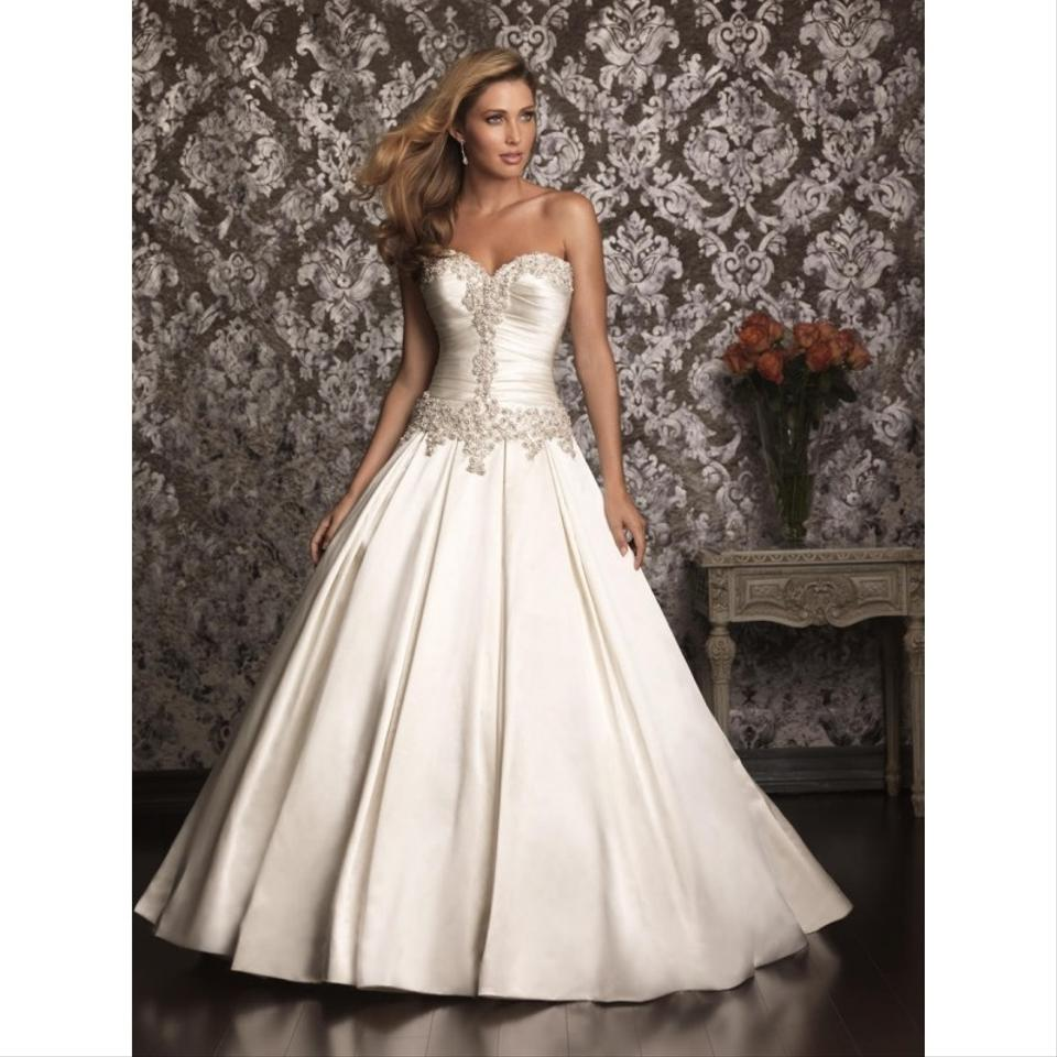ded55b72b133 Allure Bridals Off-white Satin Gown 9003 Formal Wedding Dress Size 6 (S) ...