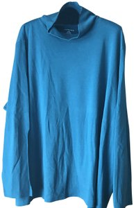 Lands' End Mock Turtle Long Sleeves Straight Hemline Cotton Machine Wash Tunic