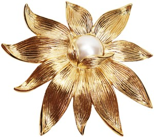 Givenchy MASSIVE 1980s GIVENCHY BROOCH *signed* Givenchy Pearl Flower Brooch