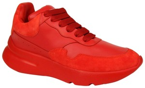 Alexander McQueen Women's Leather/Suede Runner Red Athletic