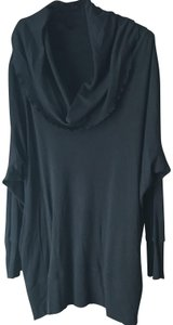 Sejour Cowl Neck Long Sleeves Banded Cotton/Modal Machine Wash Tunic