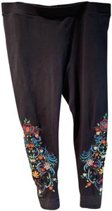 BrazilRoxx Black with colored embroidery Leggings