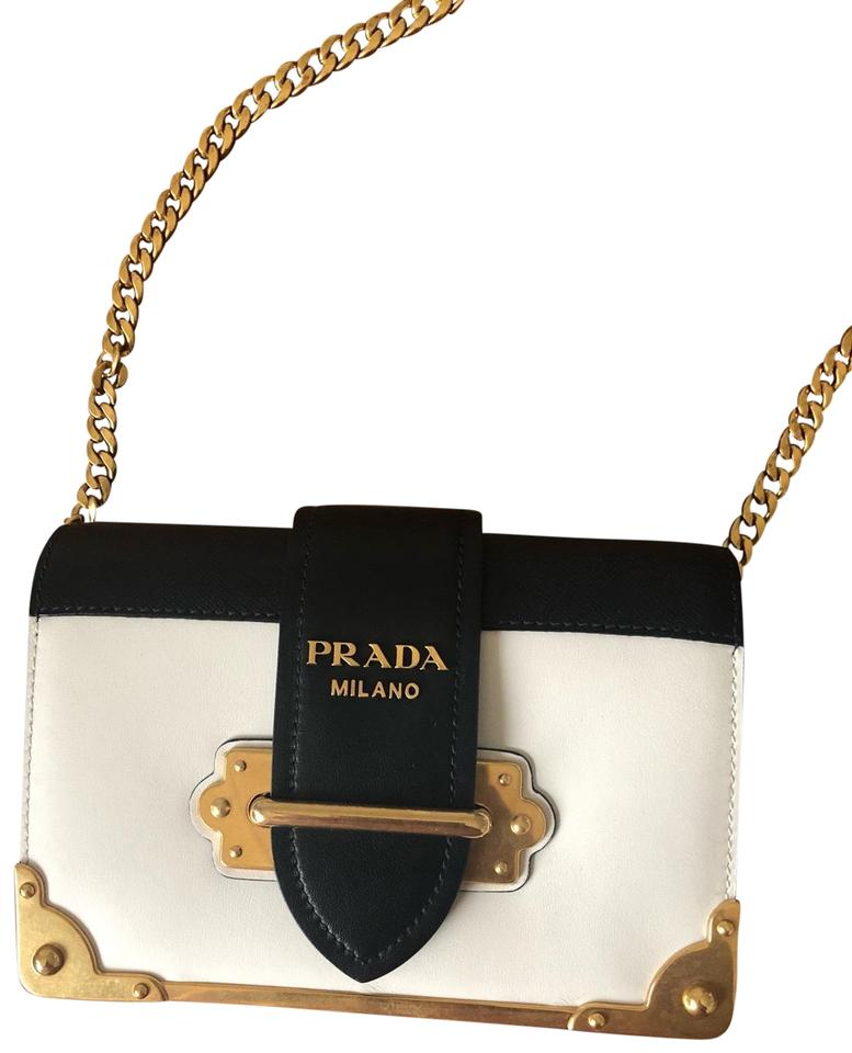 61d8d936e14d91 Prada Cahier Small White Calfskin Leather Cross Body Bag - Tradesy
