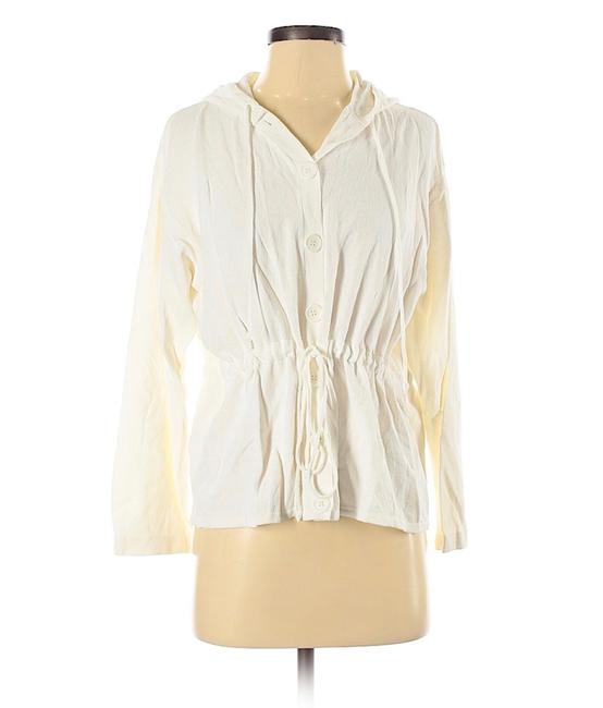 Item - White Hooded Sweater S/M Cardigan Size 6 (S)