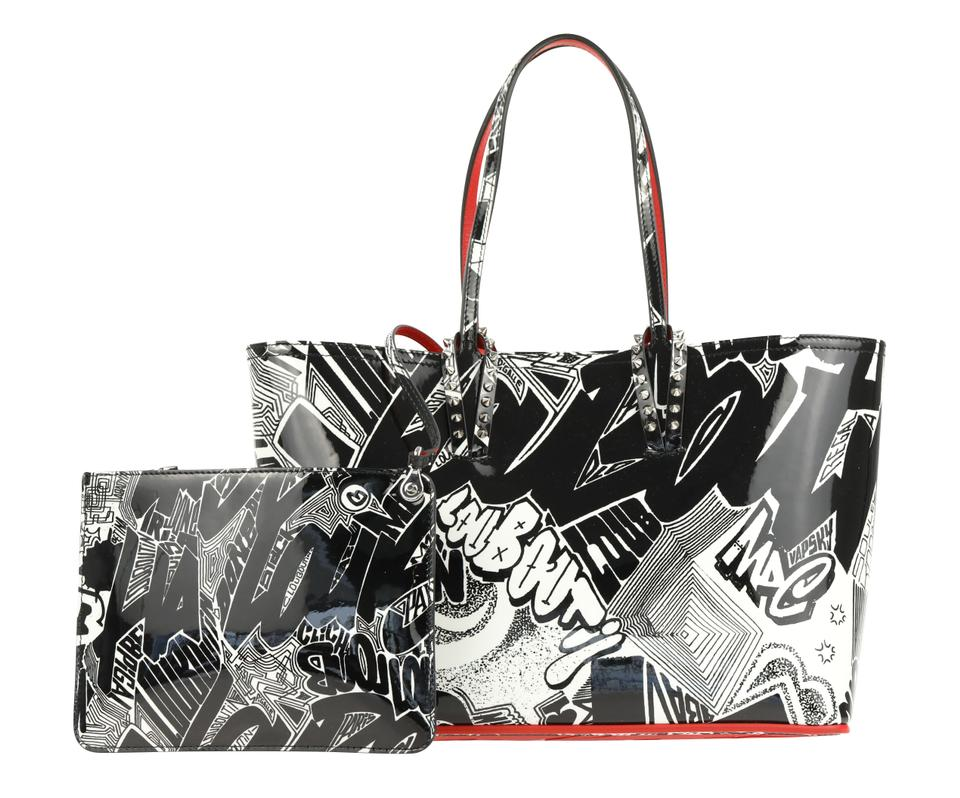 743401bd8ce Christian Louboutin Cabata Small Nicograf Multicolor Patent Leather Tote