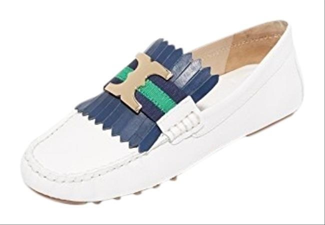 Item - White Gemini Link Driver Loafers Flats Size US 6.5 Regular (M, B)