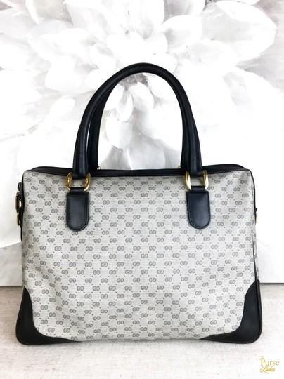 Gucci Micro Gg Navy Satchel in blue Image 2