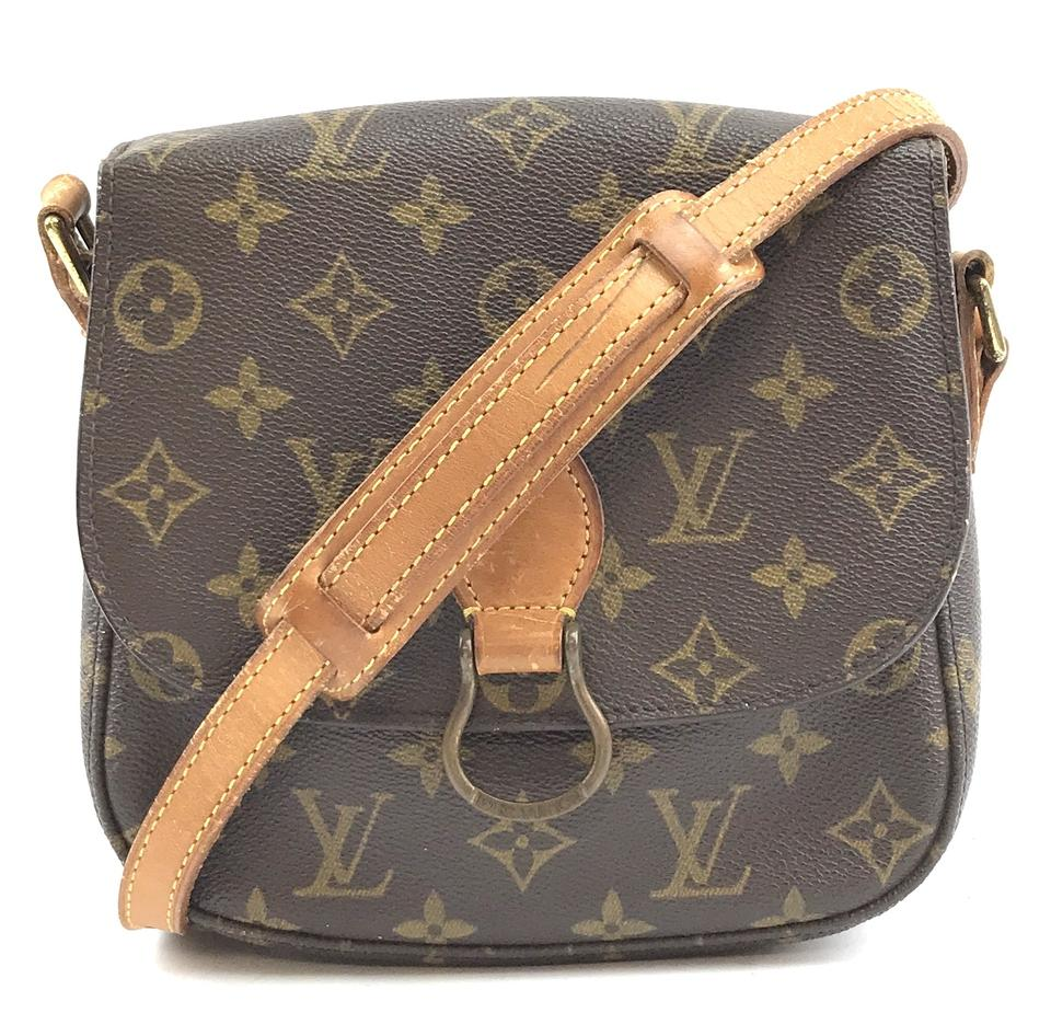 178f1854998d8 Louis Vuitton Shoulder Messenger  29859 Saint Cloud Monogram Coated ...