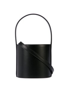 STAUD Mini Leather Tote in Black