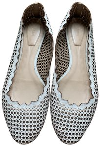 Chloé Leather Ballet Perforated white Flats