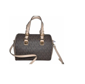cdd04f8a29a8 Michael Kors Satchel in BROWN · Michael Kors. Grayson Signature Tote Brown  Pvc Leather Satchel