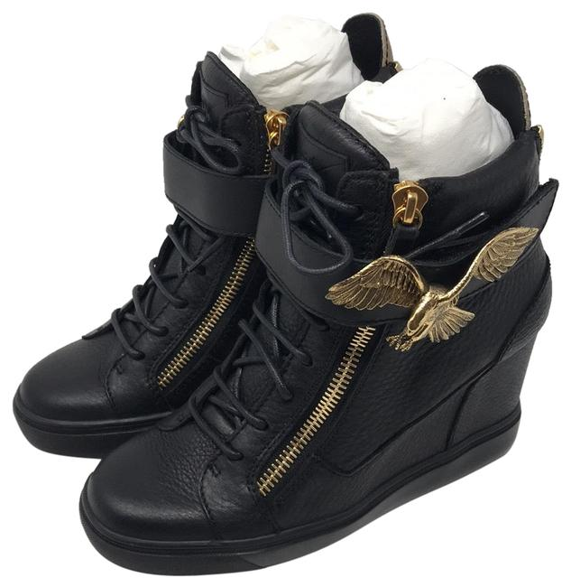 Item - Black Gold New Sneakers Size EU 40.5 (Approx. US 10.5) Regular (M, B)