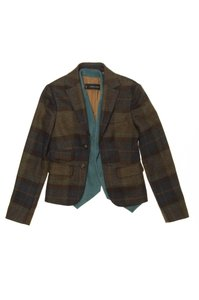 Dsquared2 Vest Brown Plaid, teal Jacket