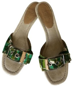 The Original Car Shoe tan and green Sandals