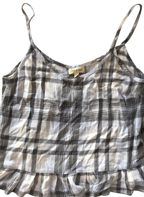 Cloth & Stone Blue Plaid New with Tags Patterned Tank Top/Cami Size 12 (L) Cloth & Stone Blue Plaid New with Tags Patterned Tank Top/Cami Size 12 (L) Image 1