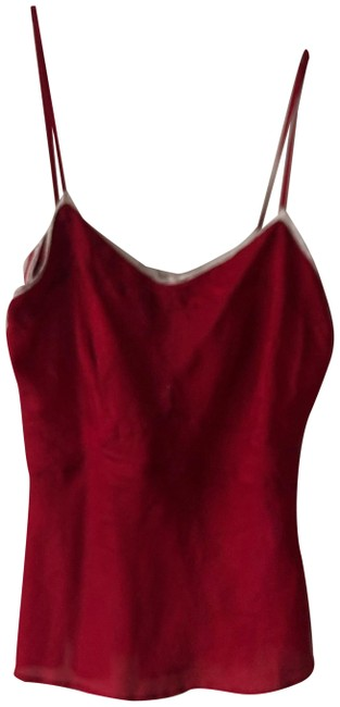 Item - Red Camisole with Lace Detail Tank Top/Cami Size 8 (M)