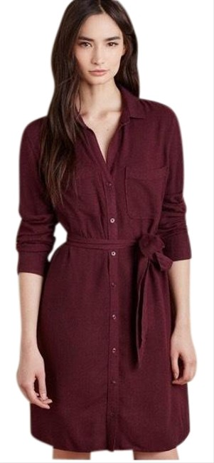 Preload https://img-static.tradesy.com/item/25445577/cloth-and-stone-burgundy-hearth-short-casual-dress-size-2-xs-0-1-650-650.jpg