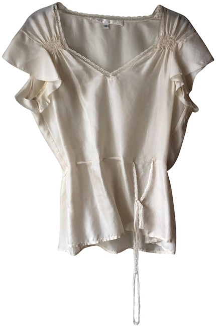Item - Cream Lace Detail By Blouse Size 8 (M)