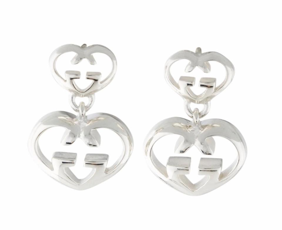 14f070ab1 Gucci Saved For Cassandra Britt Love Double G Heart Drop Earrings ...