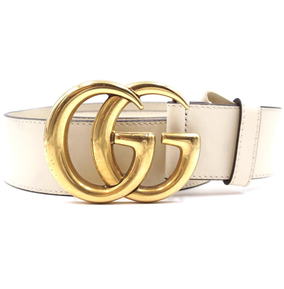 b1631bf781967 Gucci GG Marmont logo wide gold buckle leather Belt Size 70 28 Image 0 ...
