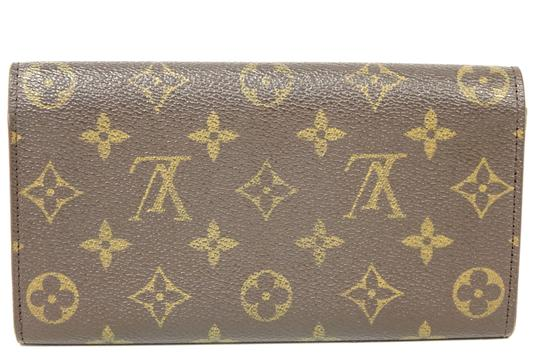 Louis Vuitton Monogram Leather Bifold Snap Purse Coin Long Wallet Image 1
