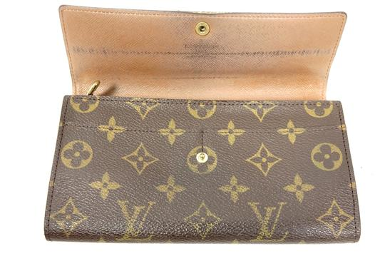 Louis Vuitton Monogram Leather Bifold Snap Purse Coin Long Wallet Image 5