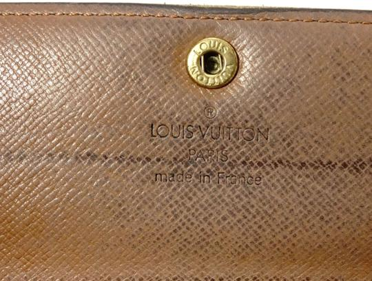 Louis Vuitton Monogram Leather Bifold Snap Purse Coin Long Wallet Image 6