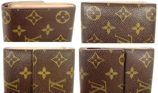 Louis Vuitton Monogram Leather Bifold Snap Purse Coin Long Wallet Image 7
