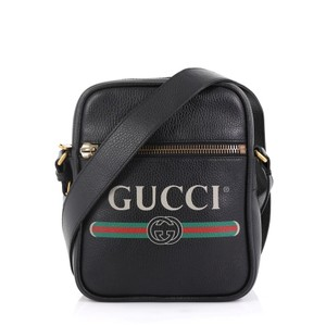 Gucci Leather Small black Messenger Bag
