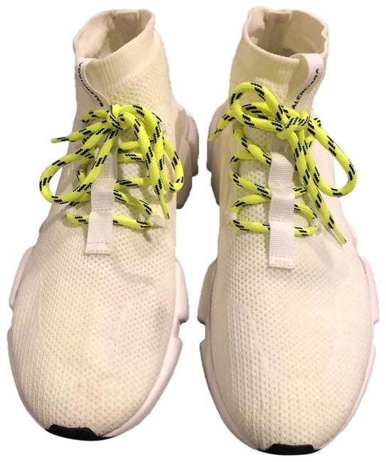 Item - White/ Lime Green Laces Speed Trainer 2 Sneakers Size US 10 Regular (M, B)