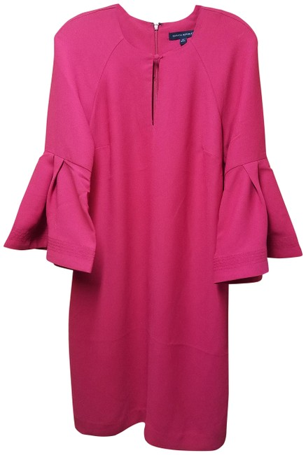 Item - Red Bell Shift In Color Mid-length Work/Office Dress Size 6 (S)