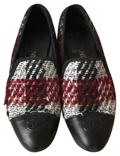 Chanel Multi with Black Leather Loafers Flats Size EU 37.5 (Approx. US 7.5) Regular (M, B) Chanel Multi with Black Leather Loafers Flats Size EU 37.5 (Approx. US 7.5) Regular (M, B) Image 1