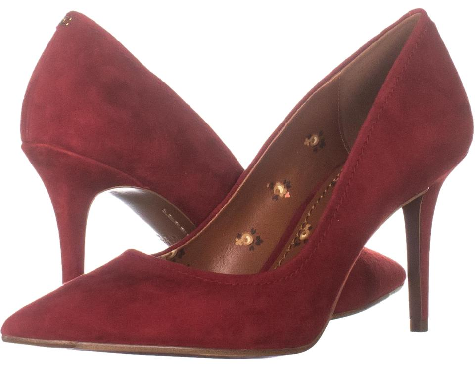 e6f6f8b3e48 Coach Red Waverly 85mm Classic Heels 733 Scarlet Pumps Size US 9 ...