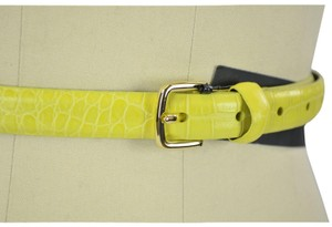 Marc by Marc Jacobs NEW Croc Embossed Leather Belt