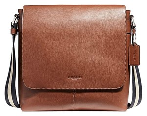 Coach Leather NICKEL/SADDLE Messenger Bag