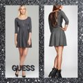Guess Charcoal Gray/Black Fit and Large Short Work/Office Dress Size 14 (L) Guess Charcoal Gray/Black Fit and Large Short Work/Office Dress Size 14 (L) Image 1
