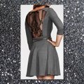 Guess Charcoal Gray/Black Fit and Large Short Work/Office Dress Size 14 (L) Guess Charcoal Gray/Black Fit and Large Short Work/Office Dress Size 14 (L) Image 2