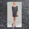 Guess Charcoal Gray/Black Fit and Large Short Work/Office Dress Size 14 (L) Guess Charcoal Gray/Black Fit and Large Short Work/Office Dress Size 14 (L) Image 3