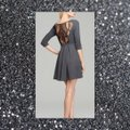 Guess Charcoal Gray/Black Fit and Large Short Work/Office Dress Size 14 (L) Guess Charcoal Gray/Black Fit and Large Short Work/Office Dress Size 14 (L) Image 4