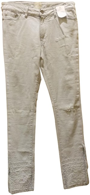 Item - Very Pale Blue Light Wash Distressed Skinny Jeans Size 29 (6, M)
