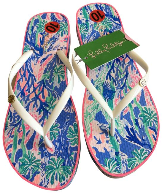 Item - Multicolor White Strap Flip Flops Sandals Size US 10 Regular (M, B)