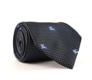 Burberry Black/Blue London Silk Neck Tie/Bowtie