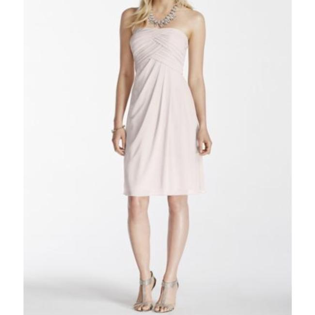 Item - Champagne Short Strapless with Pleated Top Traditional Bridesmaid/Mob Dress Size 2 (XS)
