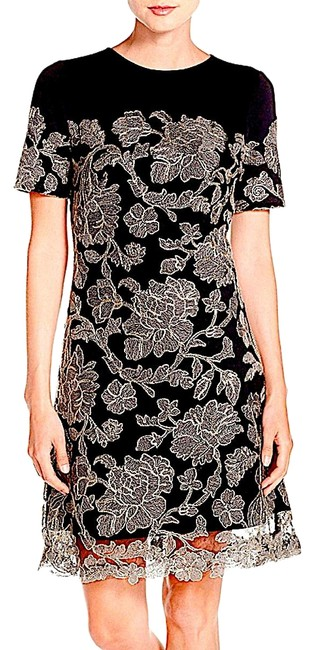Preload https://img-static.tradesy.com/item/25448518/tadashi-shoji-blackgold-with-tag-women-s-embroidered-lace-overlay-a-line-mid-length-cocktail-dress-s-0-1-650-650.jpg
