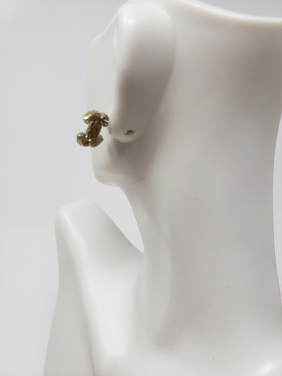 Chanel Gold-tone Chanel faux pearl Strass interlocking CC earrings Image 8